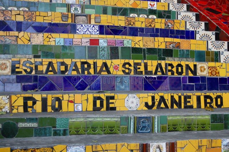 Escadaria Selaron - Rio de Janeiro - Brazil stock photography