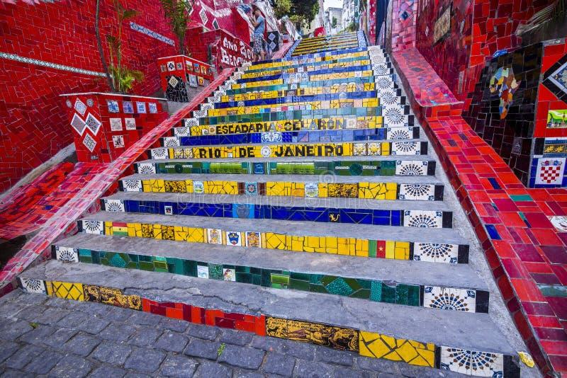 Escadaria Selaron, Rio de Janeiro, Brazil stock photos