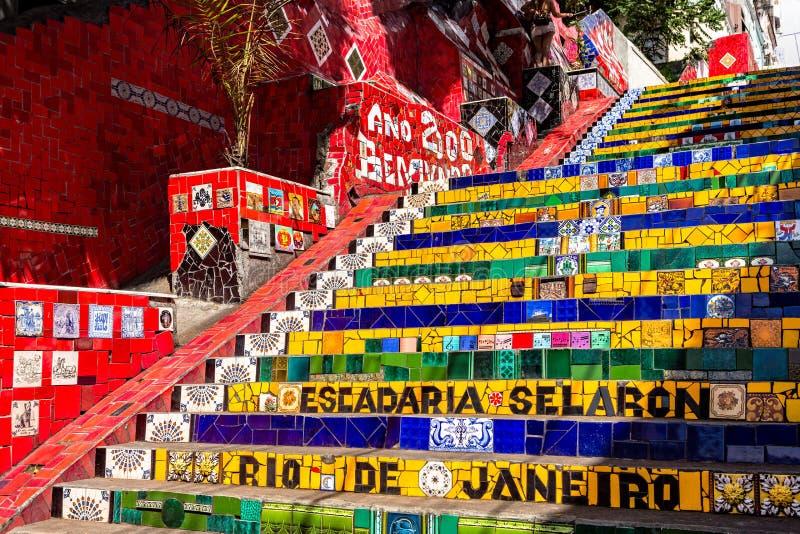 Escadaria Selaron in Rio de Janeiro royalty free stock photo