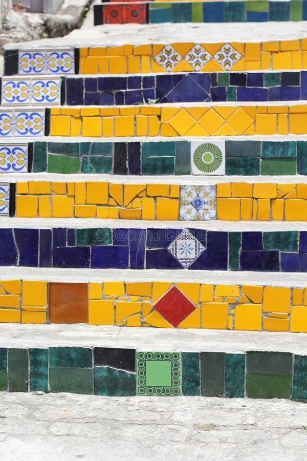 Escadaria Selaron, Rio de Janeiro, Brazil royalty free stock images