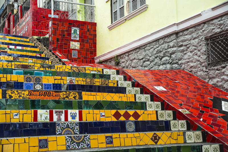 Escadaria Selaron, Rio De Janeiro, Brazylia obraz royalty free