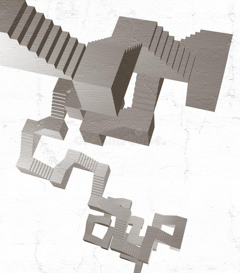 Escadas abstratas ilustração do vetor