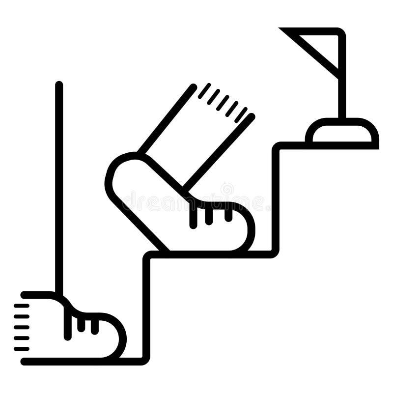 Escadas acima do ícone do vetor Acima de, para baixo, etapa, parte superior ilustração stock