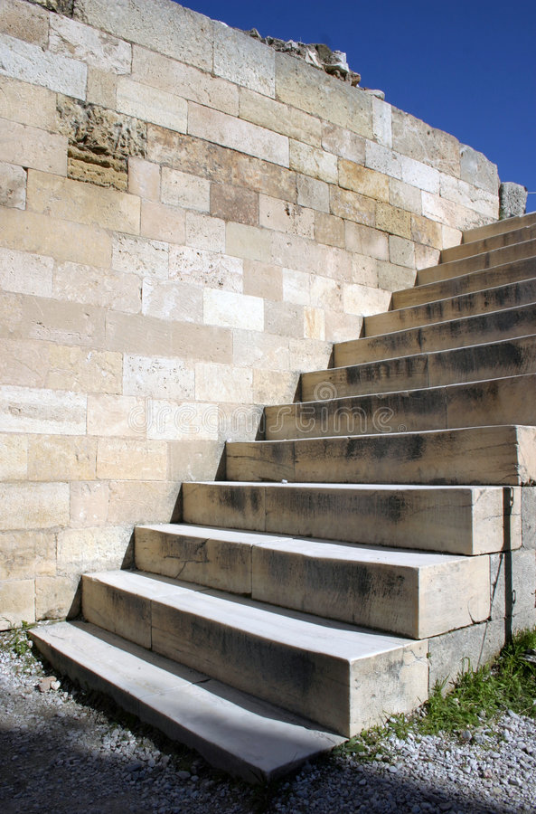 Escadas ao céu foto de stock
