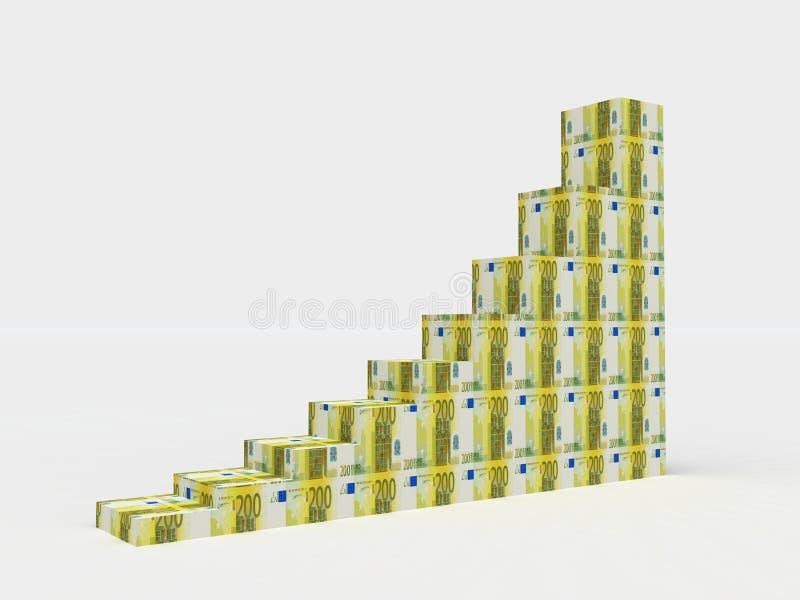 Escadas ao sucesso ilustração stock
