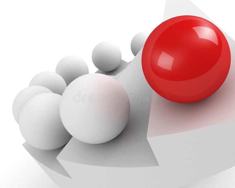 Escadas ao sucesso. conceito da liderança ilustração do vetor