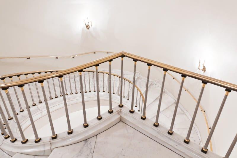 Escadas brancas. imagem de stock royalty free