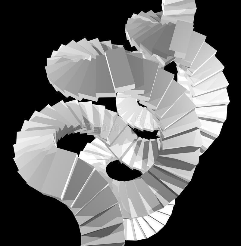 Escadas brancas abstratas ilustração stock