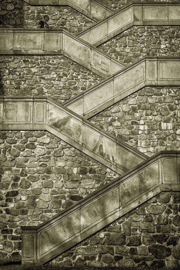 Escadas Bratislava do castelo fotos de stock royalty free