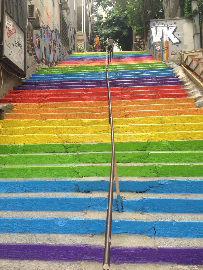 Escadas coloridas fotos de stock
