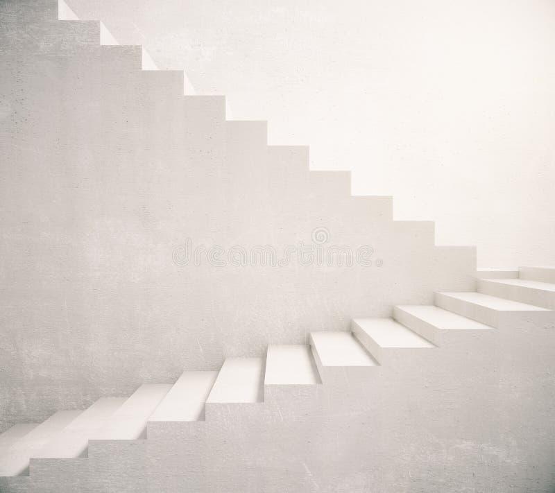 Escadas concretas que conduzem ilustração stock