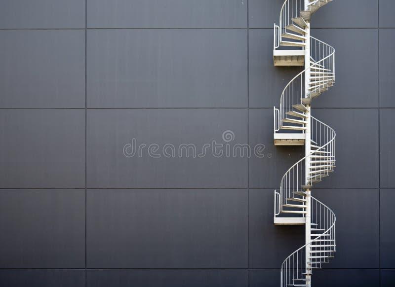 Escadas da emergência fotografia de stock