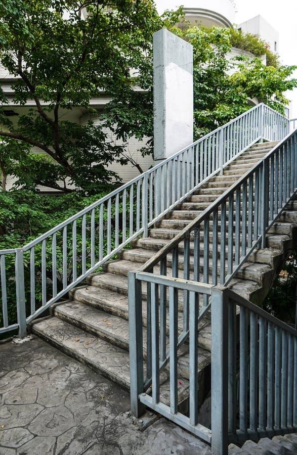 Escadas da passagem superior fotos de stock