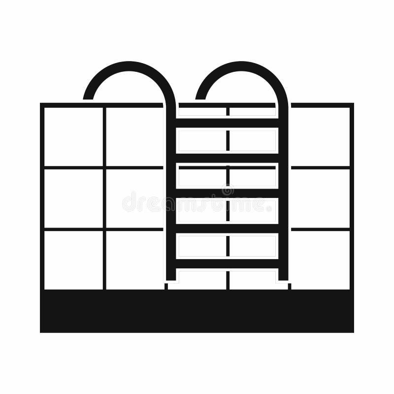 Escadas da piscina ilustração stock