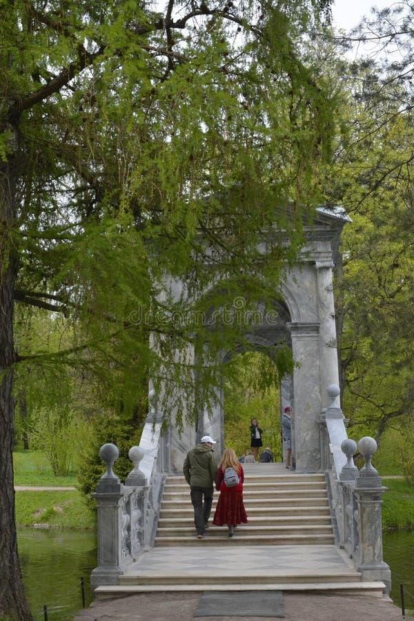 Escadas da ponte de Tsarskoe Selo Pushkin imagens de stock