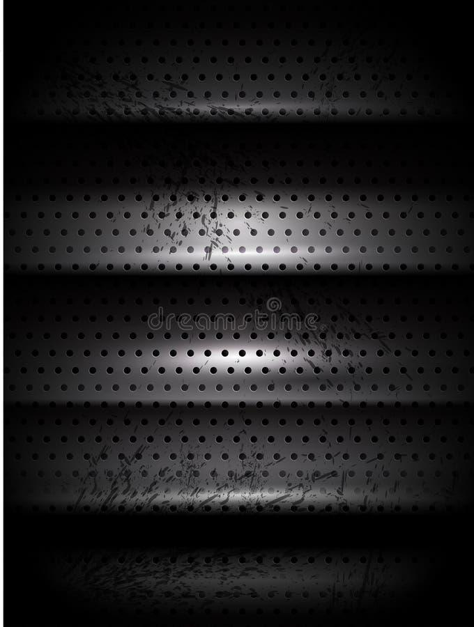 Escadas da textura do metal do vetor ilustração royalty free