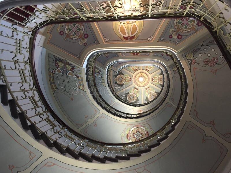 Escadas de Art Nouveau foto de stock