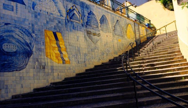Escadas de Azulejo imagem de stock