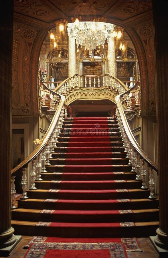 Escadas de Dolmabahce imagens de stock royalty free