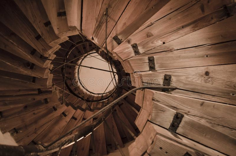 Escadas de madeira imagem de stock royalty free