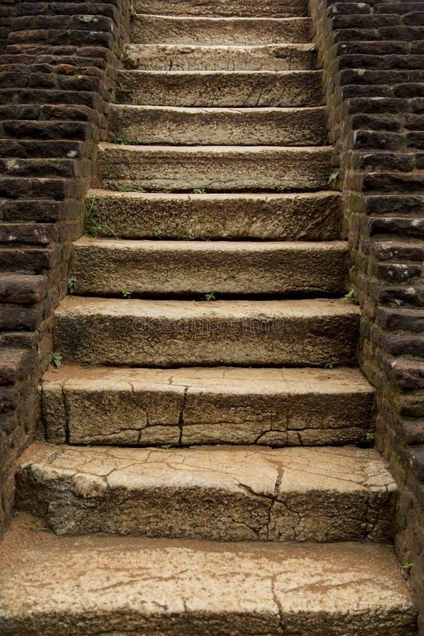 Escadas de pedra antigas fotografia de stock