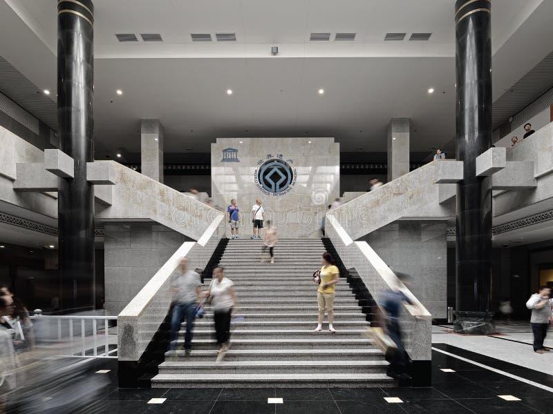 Escadas de Xian China-The do salão de exposição imagem de stock royalty free