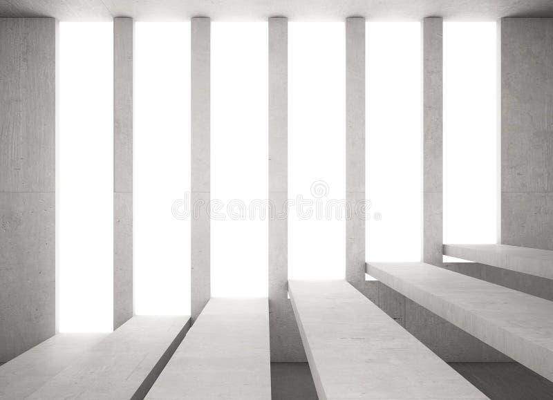 Escadas do cimento destacadas no concreto de abertura ilustração royalty free
