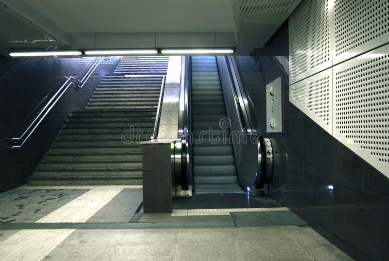 Escadas do metro fotos de stock royalty free