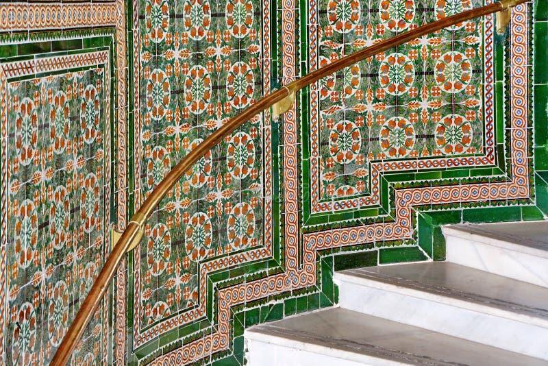 Escadas do mosaico fotografia de stock royalty free