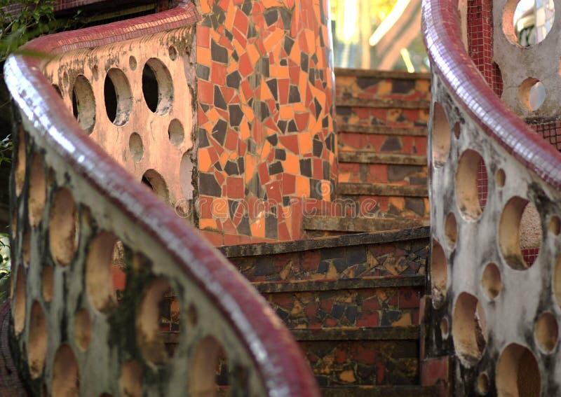Escadas do mosaico fotos de stock royalty free