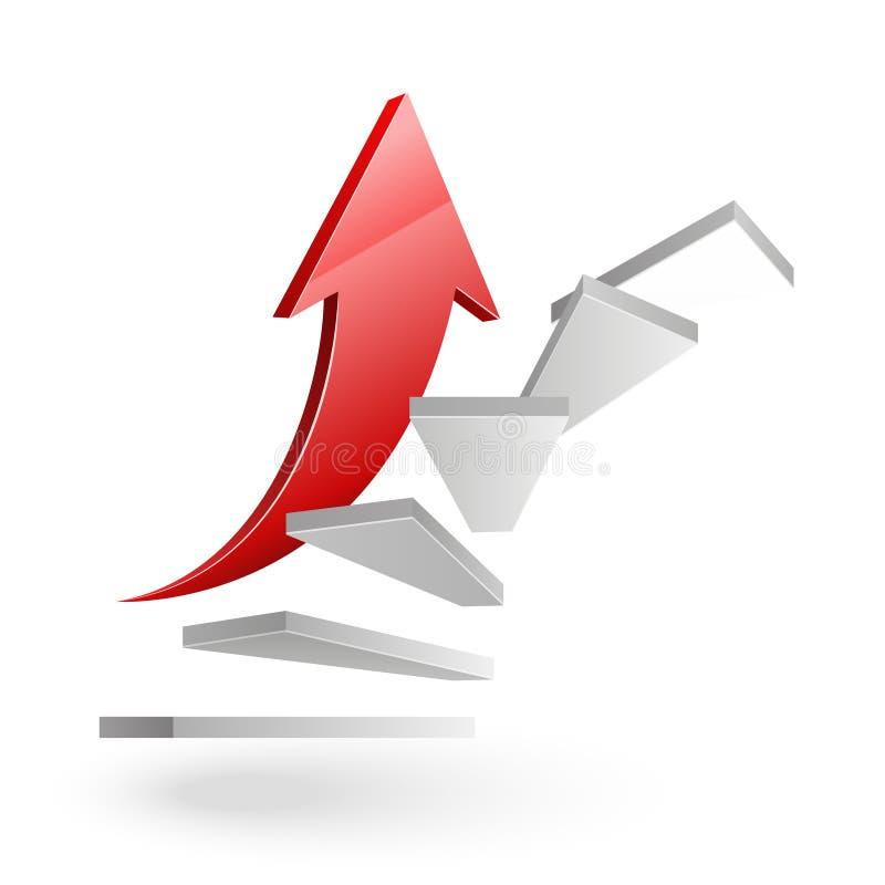 Escadas do negócio ao sucesso ilustração do vetor