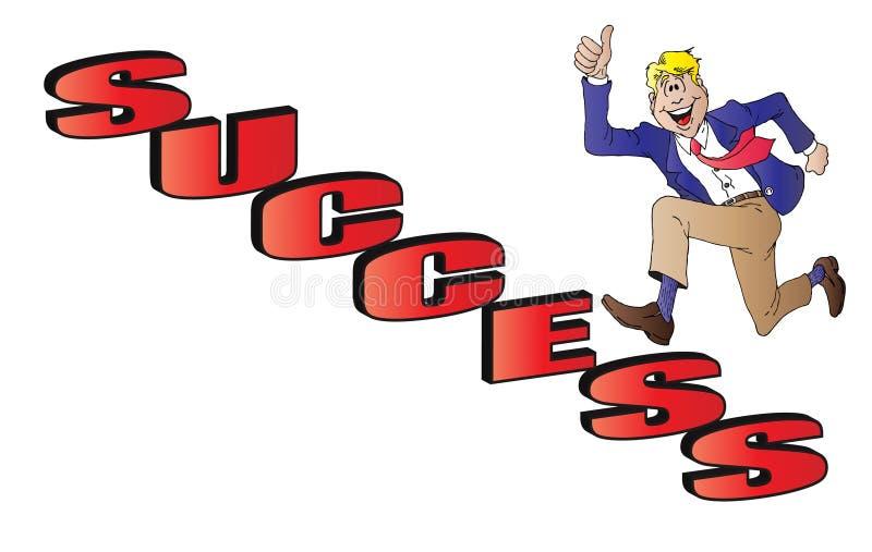 Download Escadas do sucesso ilustração stock. Ilustração de vencedor - 26501962
