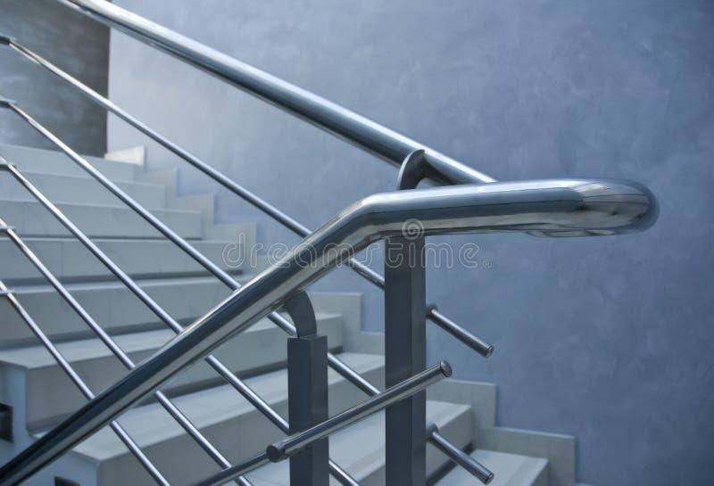 Escadas dos trilhos fotografia de stock