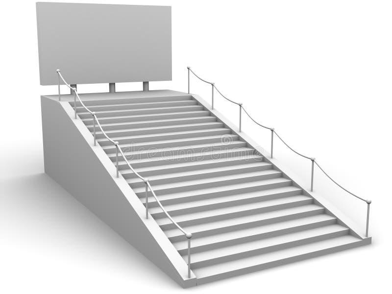 Escadas e bigboard ilustração royalty free