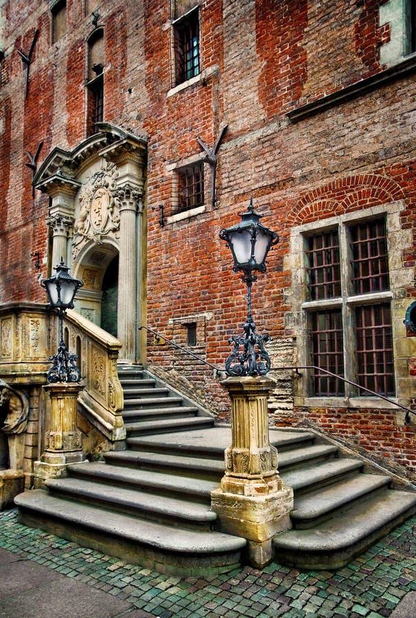 Escadas e lanternas fotografia de stock royalty free