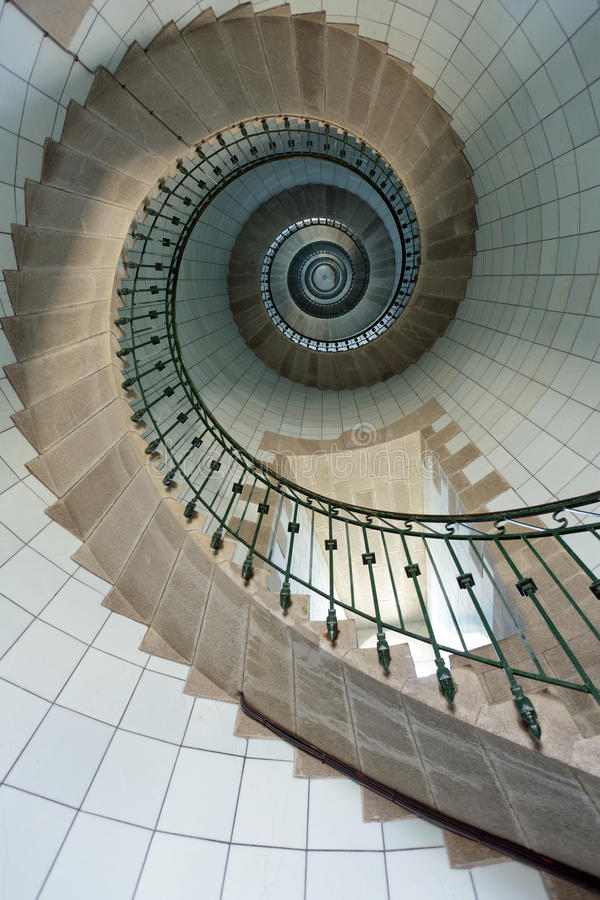 Escadas elevadas do farol fotografia de stock