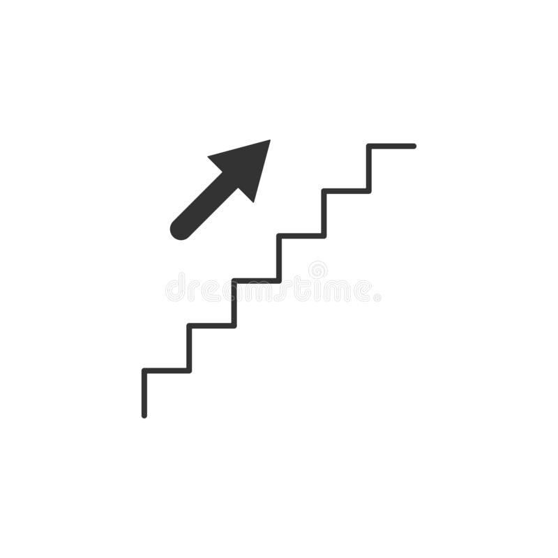 Escadas, em cima linha ícone Ilustração lisa simples, moderna do vetor para o app móvel, Web site ou desktop app ilustração stock