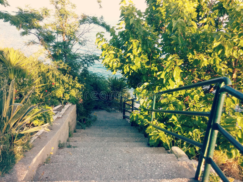 Escadas em Kavala fotografia de stock royalty free