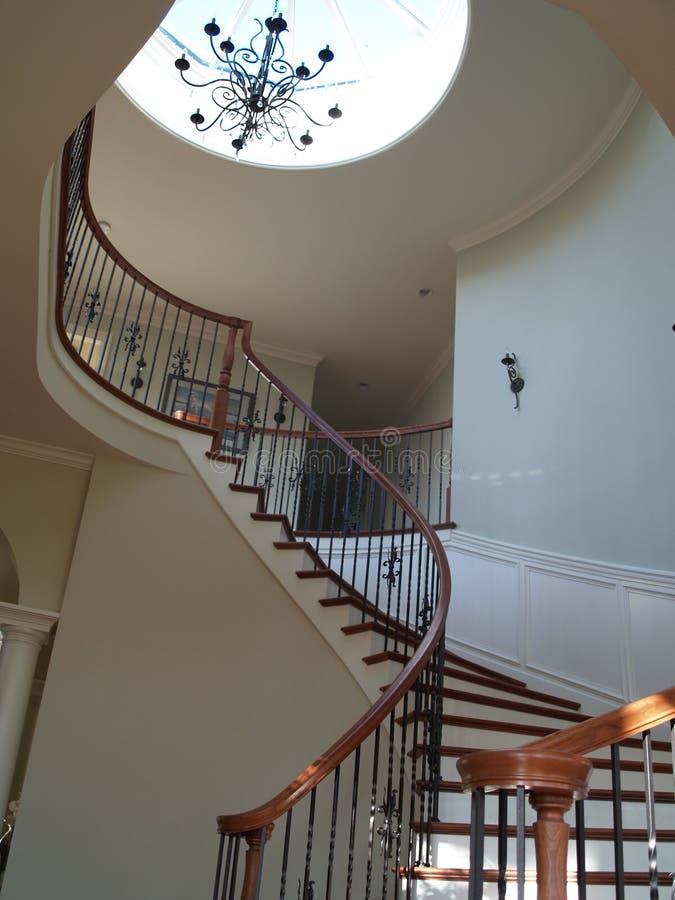 Escadas espirais imagens de stock