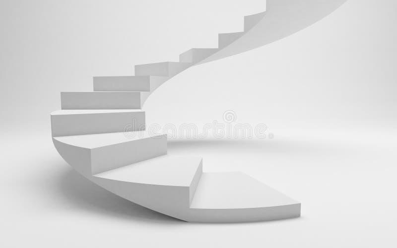 Escadas espirais brancas ao sucesso, a estrada ao financ ilustração royalty free