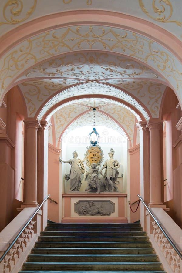 Escadas imperiais da abadia de Melk, Áustria fotos de stock