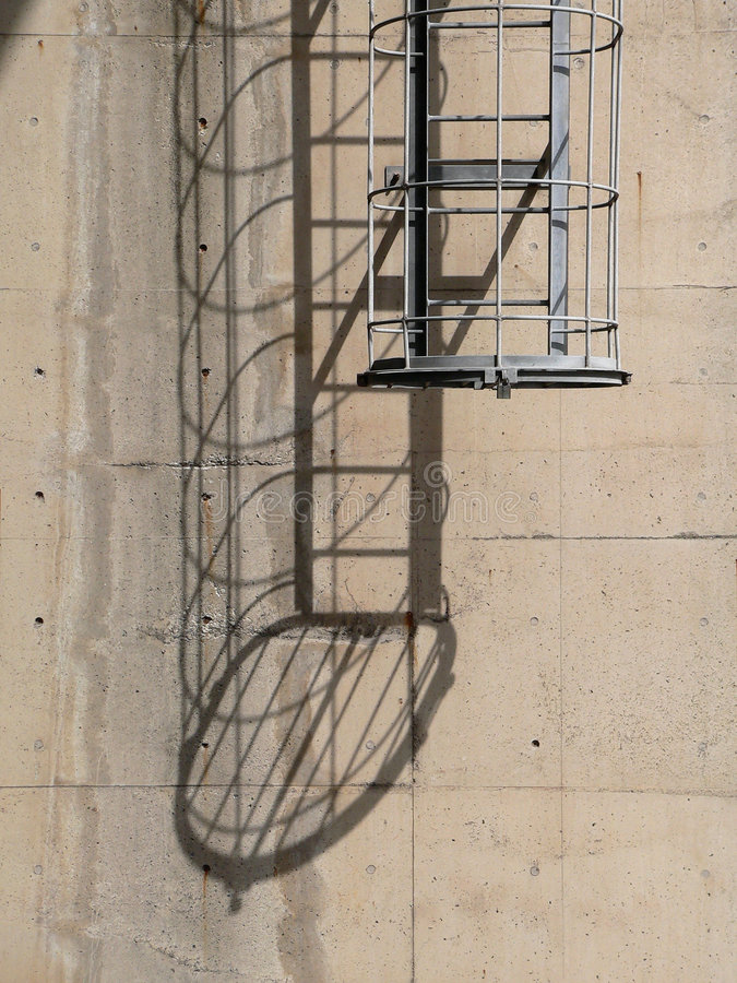 Escadas industriais fotos de stock