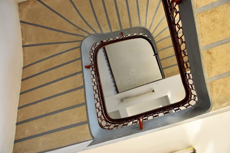 Escadas internas da troca de grão anterior imagens de stock royalty free