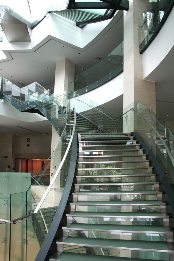 Escadas modernas foto de stock