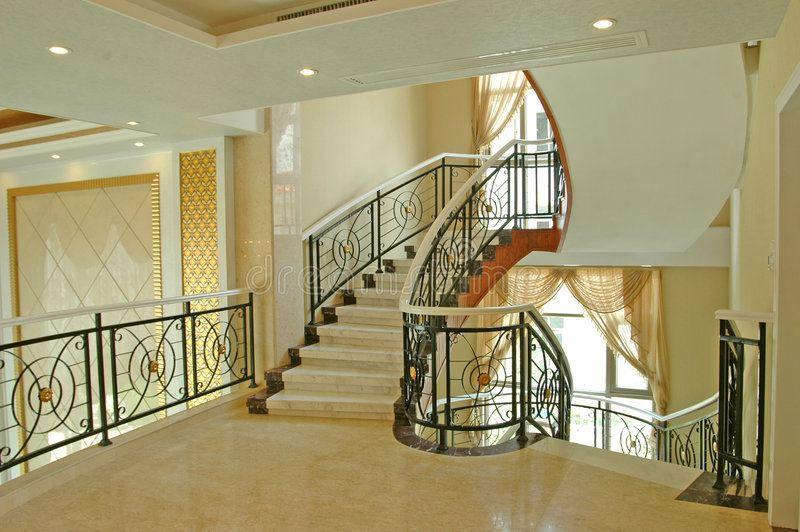 Escadas na casa fotos de stock