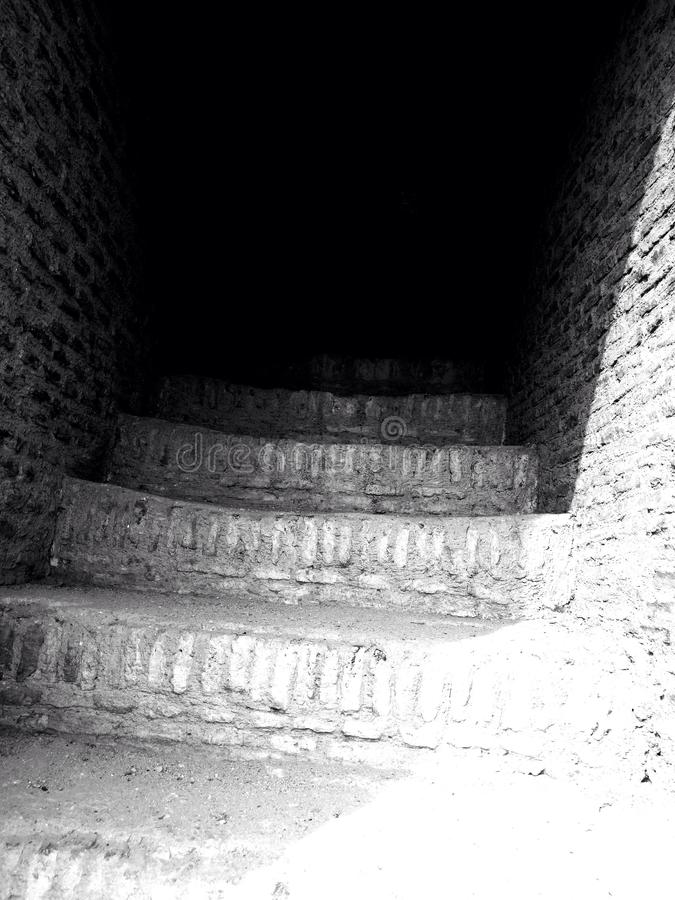 Escadas no edifício velho fotografia de stock