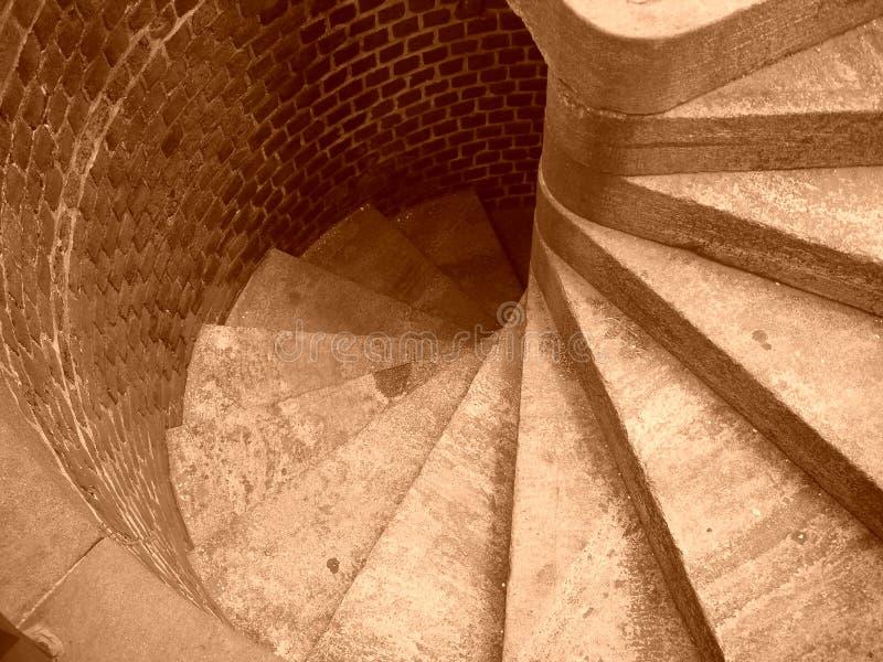 Escadas nunca de enrolamento imagem de stock