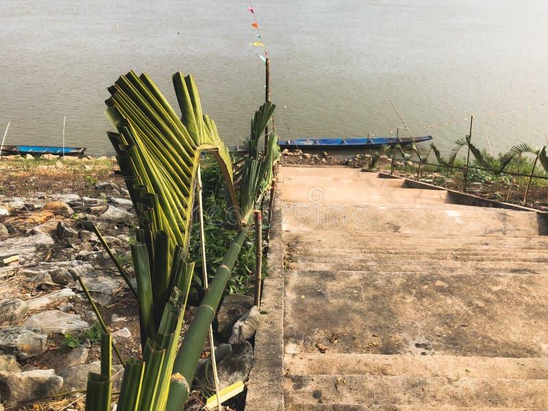 Escadas o Mekong River fotografia de stock