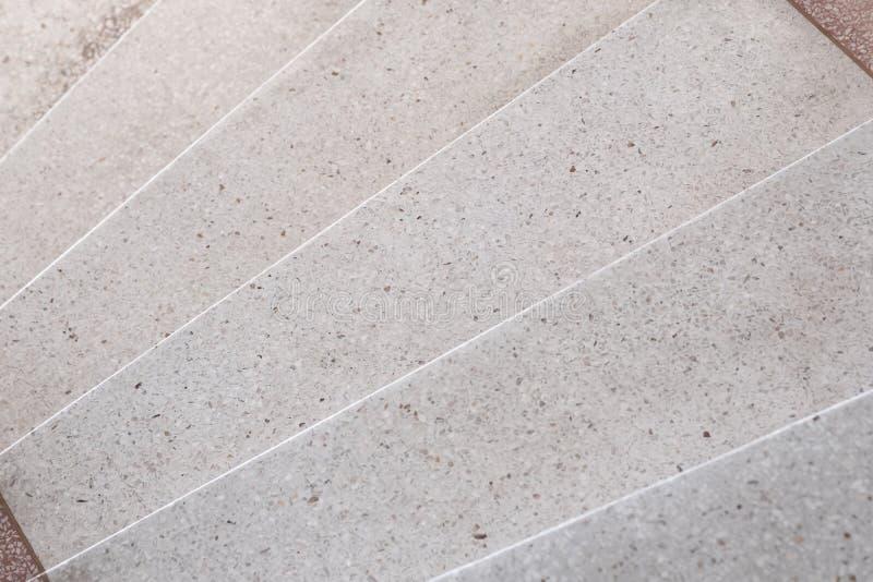 Escadas passagem de pedra lustrada terraço e assoalho, mármore da superfície do teste padrão e da cor e pedra do granito, materia fotos de stock royalty free