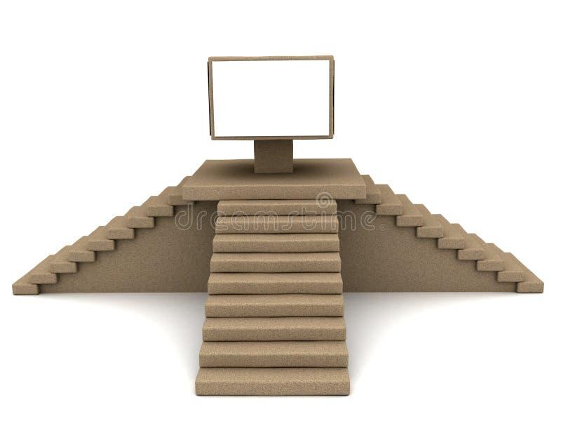 Escadas que conduzem ilustração stock